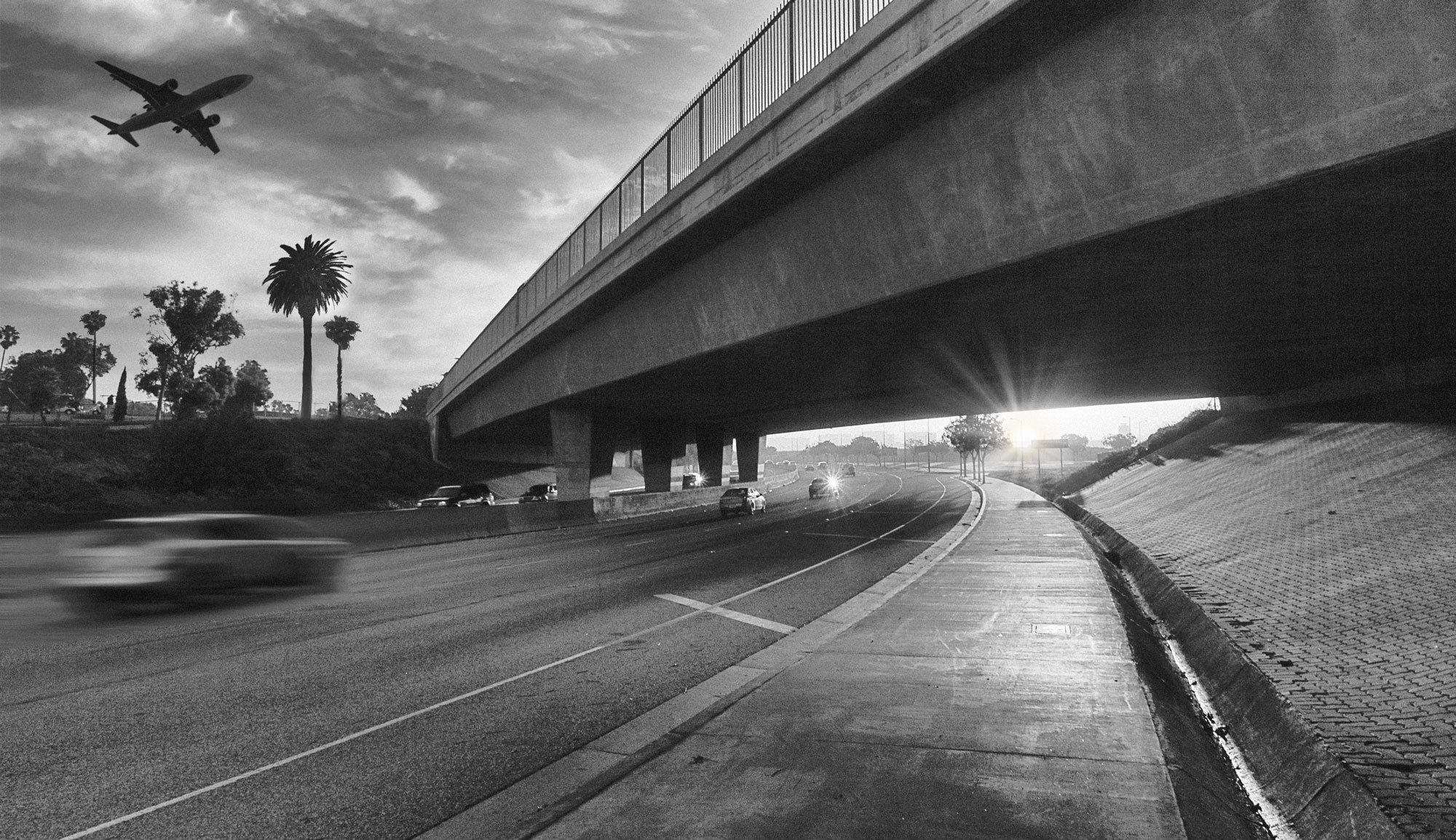 Freeway at Los Angeles International Airport