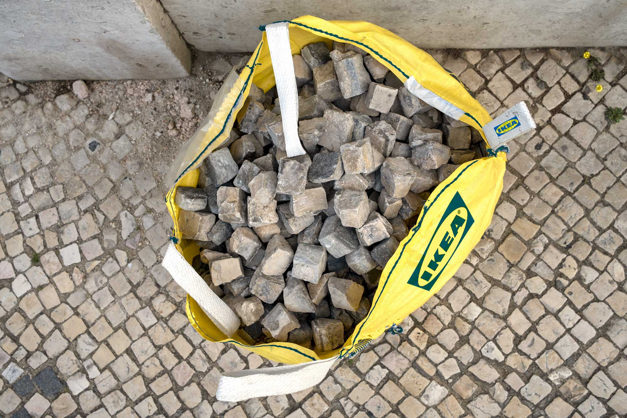 IKEA Bag with cobblestone